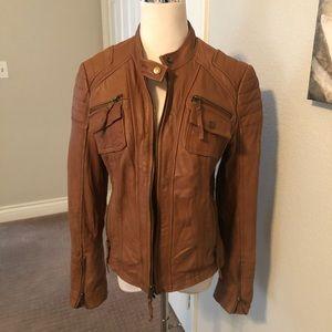 Real leather Boston proper Moto jacket size L